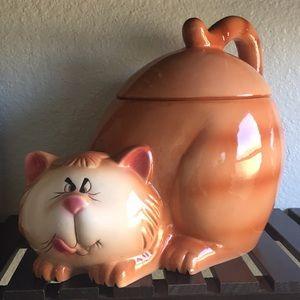 Grumpy / Mischievous Cat Cookie Jar